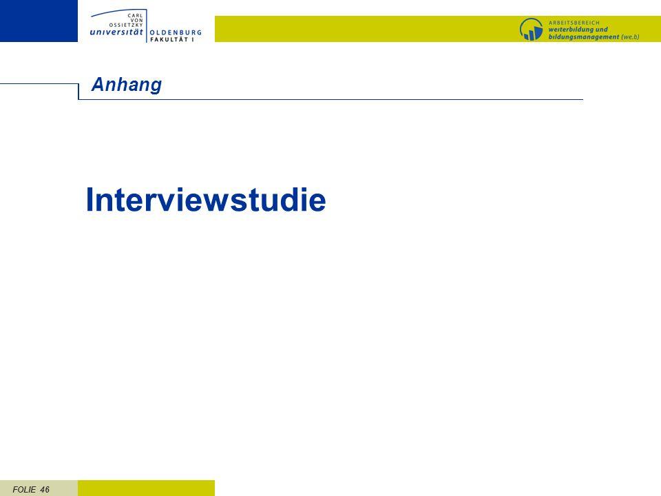 FOLIE 46 Anhang Interviewstudie