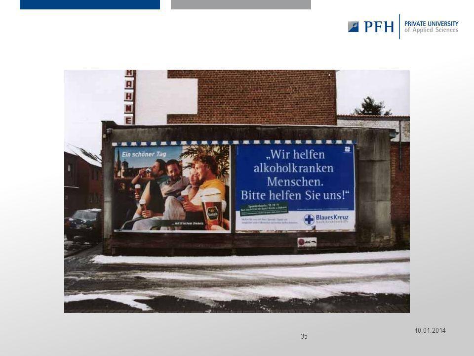 Seite 35 Hier ist Platz für den Namen des Referenten, Semesterangaben, Studienfach etc. 10.01.2014 35