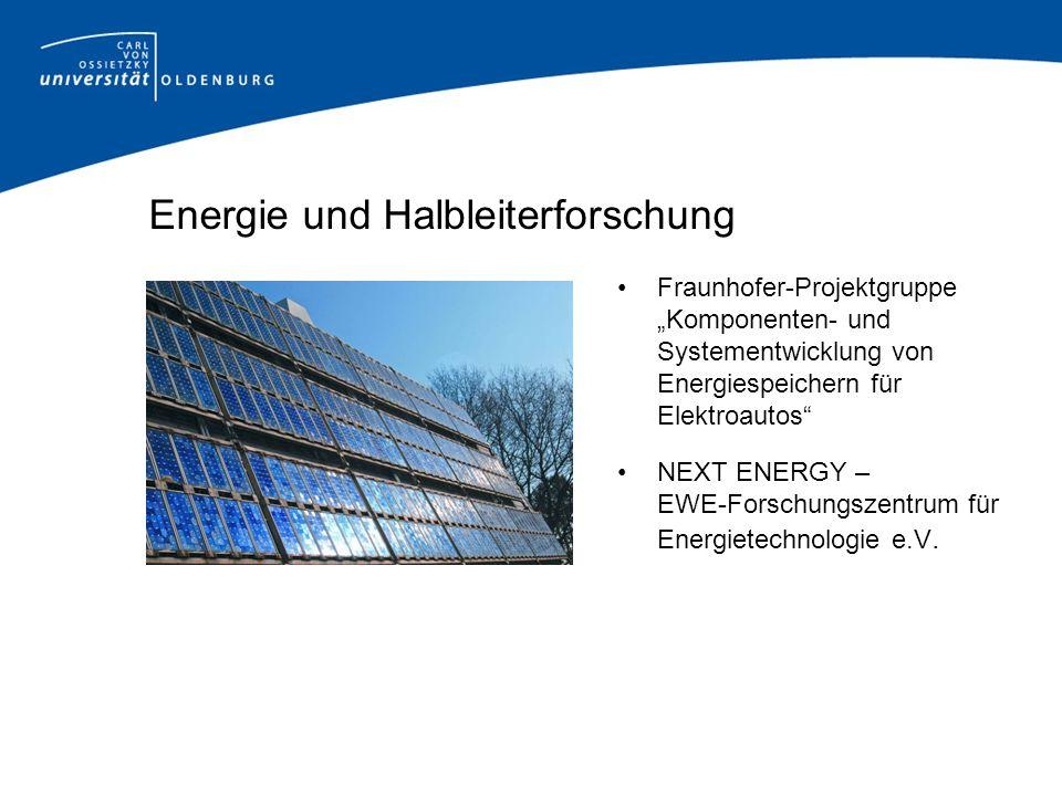 Energie und Halbleiterforschung Fraunhofer-Projektgruppe Komponenten- und Systementwicklung von Energiespeichern für Elektroautos NEXT ENERGY – EWE-Fo
