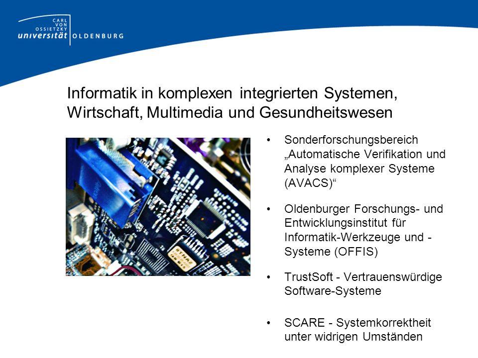 Informatik in komplexen integrierten Systemen, Wirtschaft, Multimedia und Gesundheitswesen Sonderforschungsbereich Automatische Verifikation und Analy