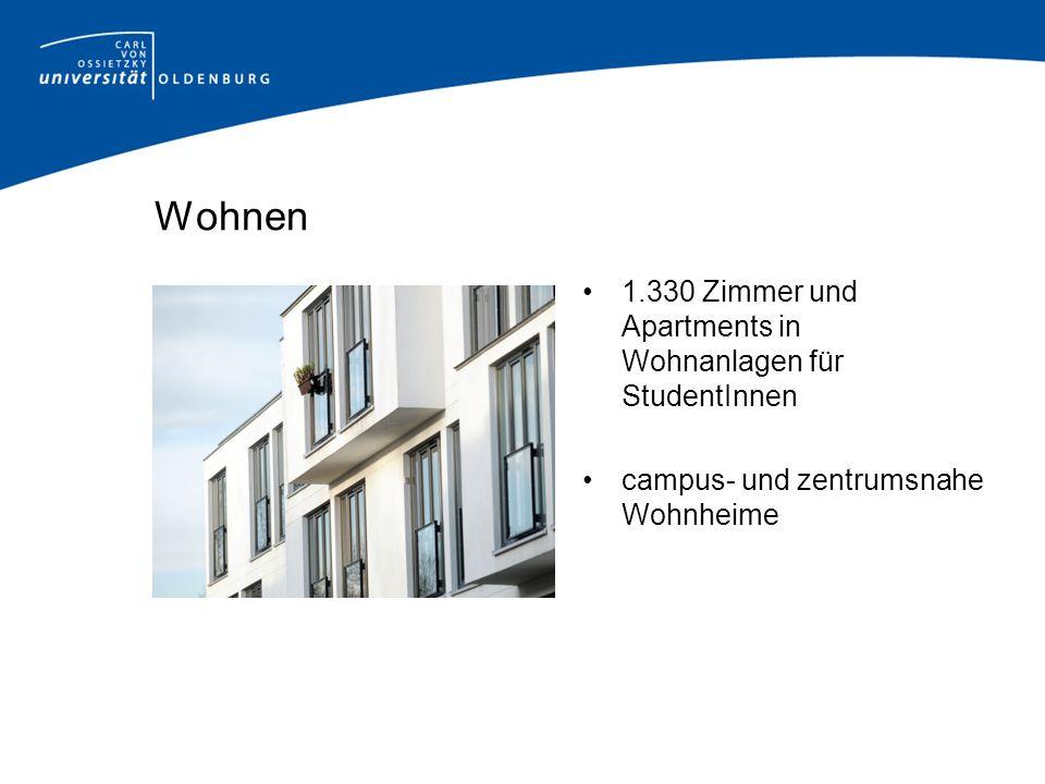 Wohnen 1.330 Zimmer und Apartments in Wohnanlagen für StudentInnen campus- und zentrumsnahe Wohnheime