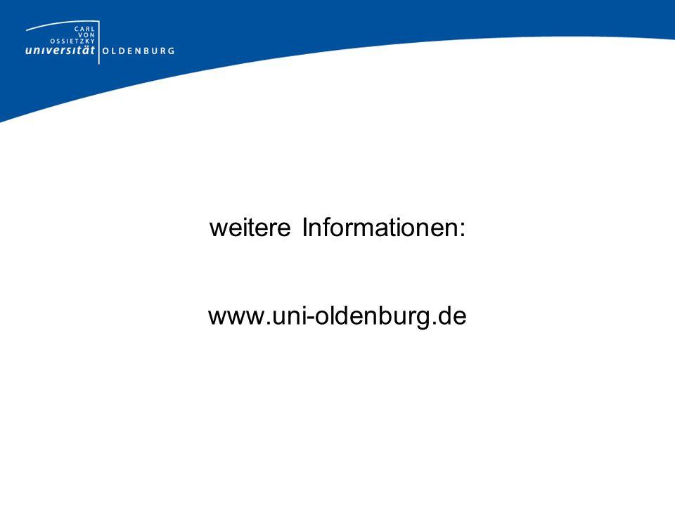weitere Informationen: www.uni-oldenburg.de