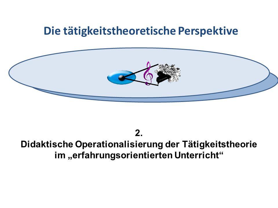 Die tätigkeitstheoretische Perspektive 2. Didaktische Operationalisierung der Tätigkeitstheorie im erfahrungsorientierten Unterricht