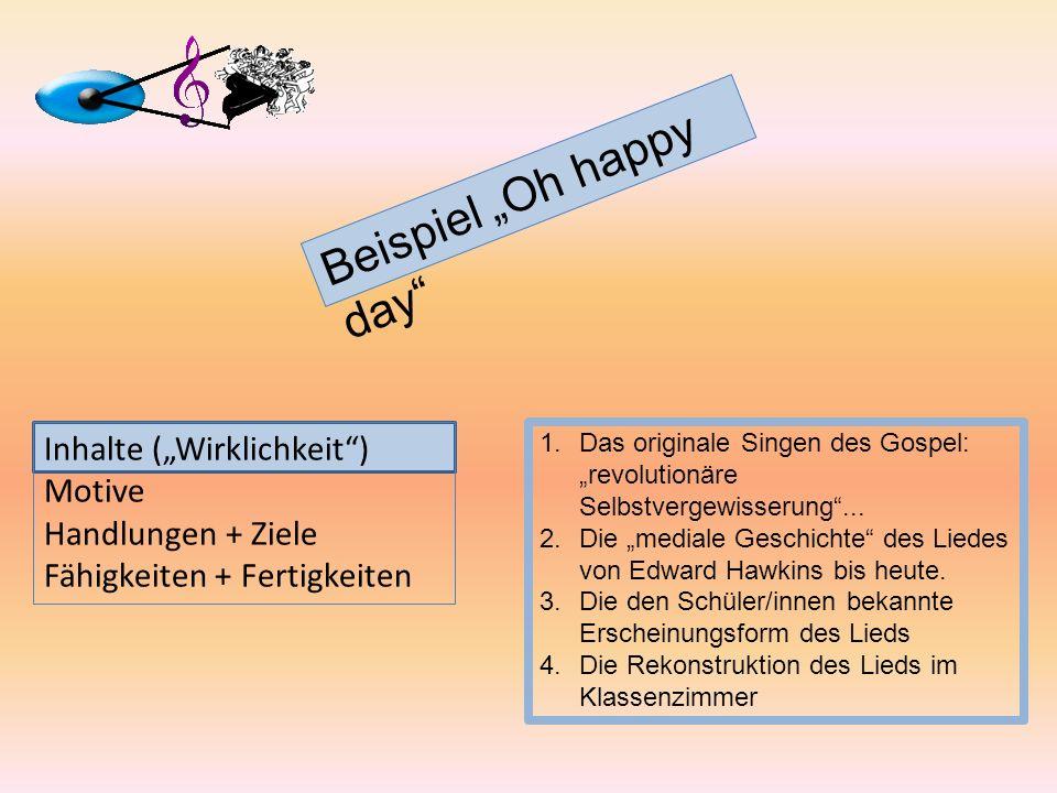 Beispiel Oh happy day 1.Das originale Singen des Gospel: revolutionäre Selbstvergewisserung... 2.Die mediale Geschichte des Liedes von Edward Hawkins