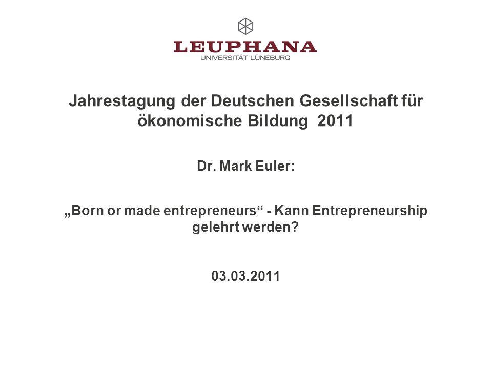 Jahrestagung der Deutschen Gesellschaft für ökonomische Bildung 2011 Dr.