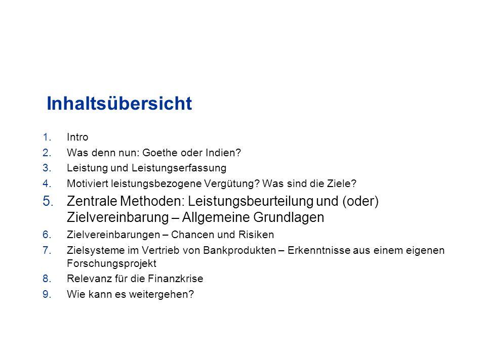 Inhaltsübersicht 1.Intro 2.Was denn nun: Goethe oder Indien.