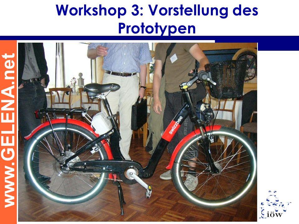www.GELENA.net Workshop 3: Vorstellung des Prototypen