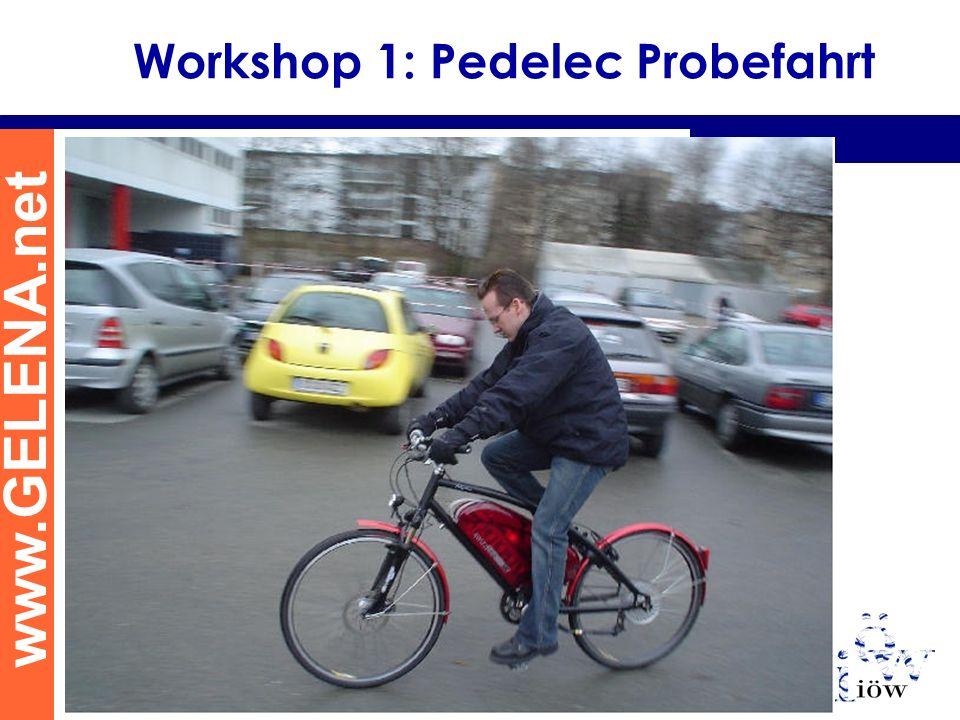 www.GELENA.net Workshop 1: Pedelec Probefahrt