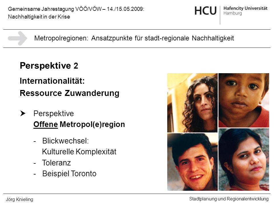Gemeinsame Jahrestagung VÖÖ/VÖW – 14./15.05.2009: Nachhaltigkeit in der Krise Stadtplanung und Regionalentwicklung Jörg Knieling Perspektive 2 Interna