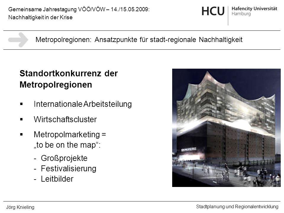 Gemeinsame Jahrestagung VÖÖ/VÖW – 14./15.05.2009: Nachhaltigkeit in der Krise Stadtplanung und Regionalentwicklung Jörg Knieling Standortkonkurrenz de