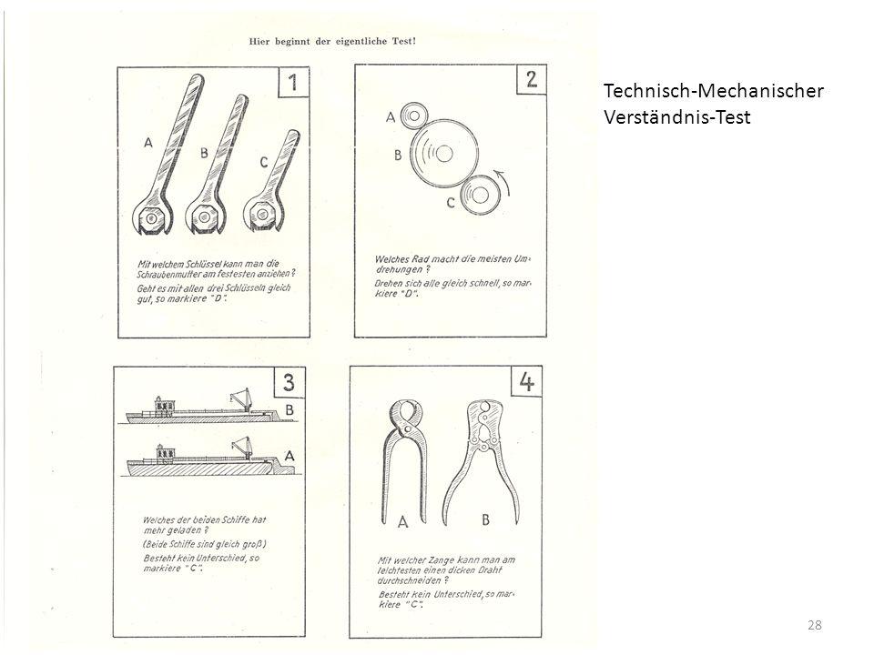 28 Technisch-Mechanischer Verständnis-Test