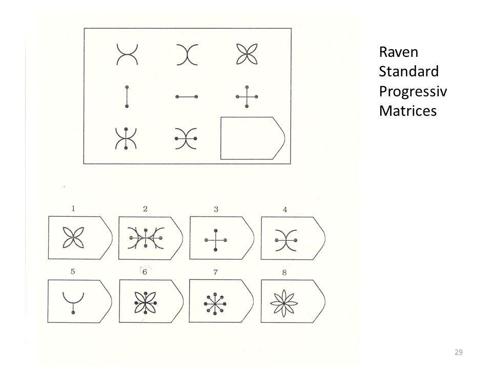 29 Raven Standard Progressiv Matrices