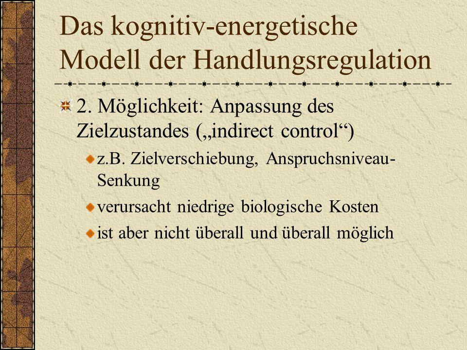 Das kognitiv-energetische Modell der Handlungsregulation 2.