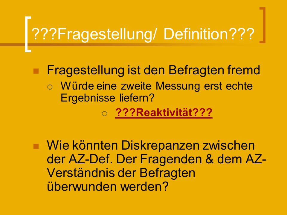 ???Fragestellung/ Definition??.
