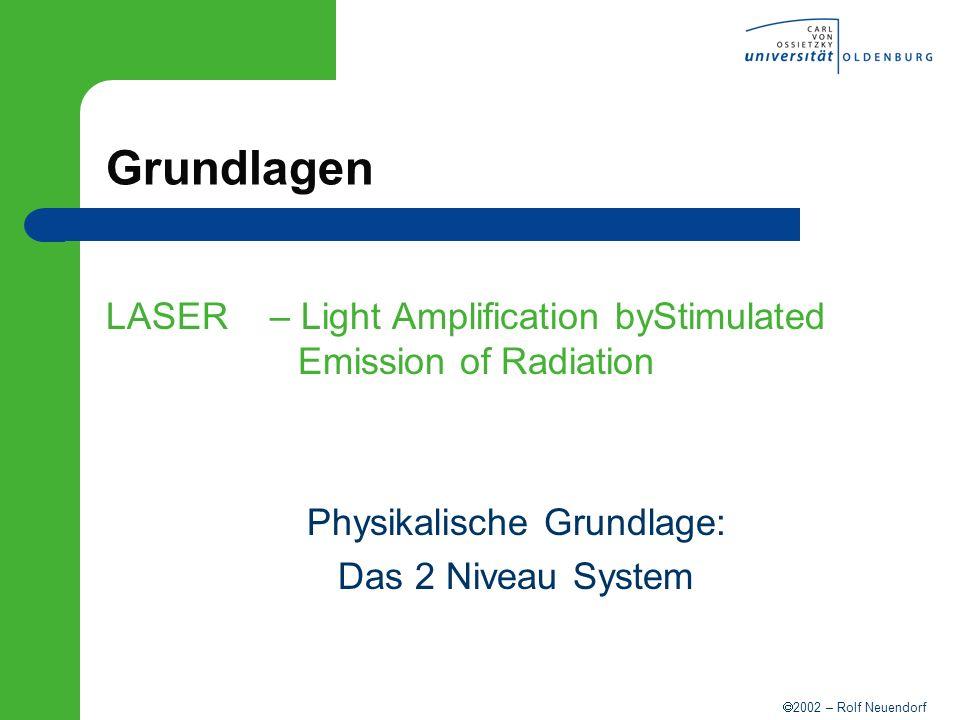 2002 – Rolf Neuendorf Äquivalentes Spaltsystem Transversale Lasermoden Beugung transversale Moden Spiegelsystem iterative Berechnung der Beugungsfigur Fox-Gordon-Gl.