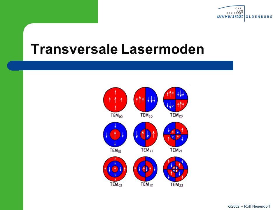 2002 – Rolf Neuendorf Transversale Lasermoden