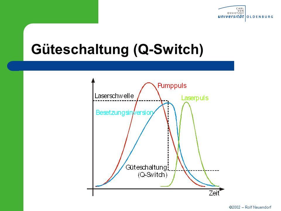 2002 – Rolf Neuendorf Güteschaltung (Q-Switch)