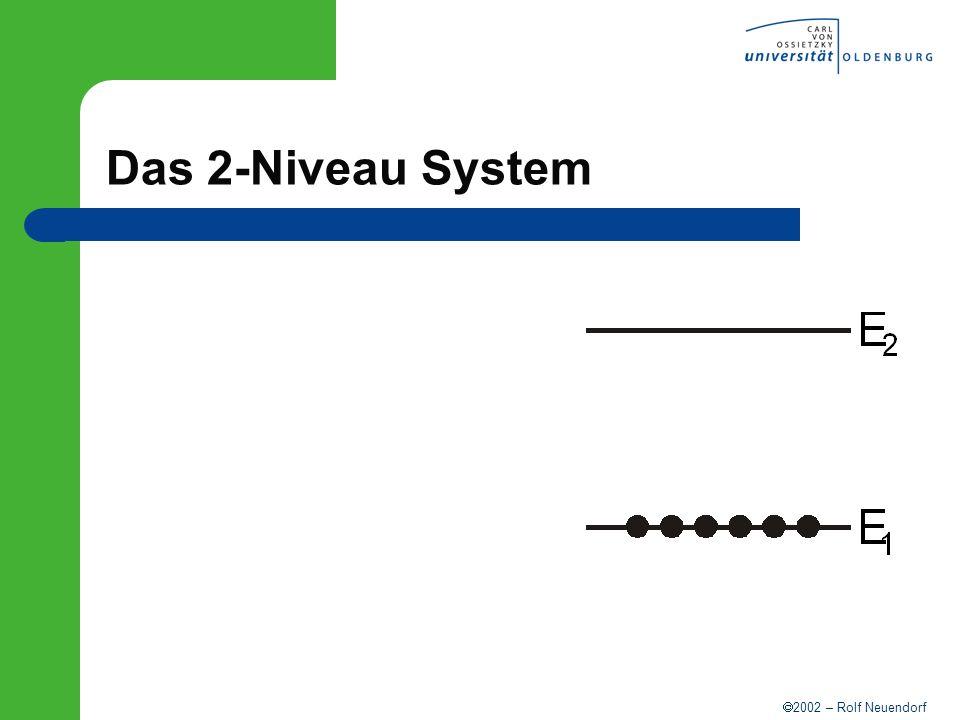 2002 – Rolf Neuendorf Modenkopplung 3 Moden 0 = 10 15 s -1 = 10 8 s -1