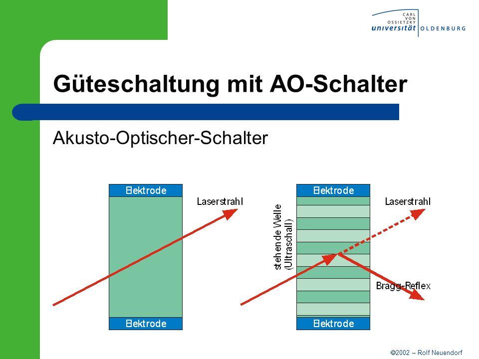 2002 – Rolf Neuendorf Güteschaltung mit AO-Schalter Akusto-Optischer-Schalter