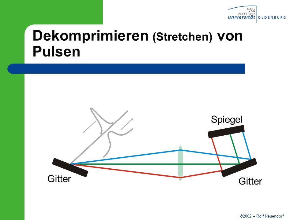 2002 – Rolf Neuendorf Dekomprimieren (Stretchen) von Pulsen Gitter Spiegel