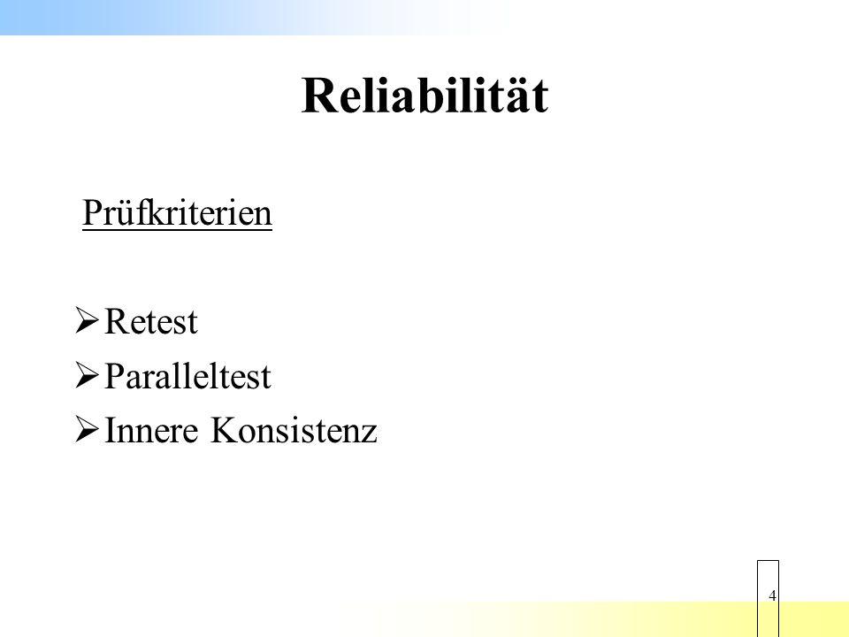 15 Reliabilität ABBSAZ Innere Konsistenz ausreichendbefriedigend Retestbefriedigendgut