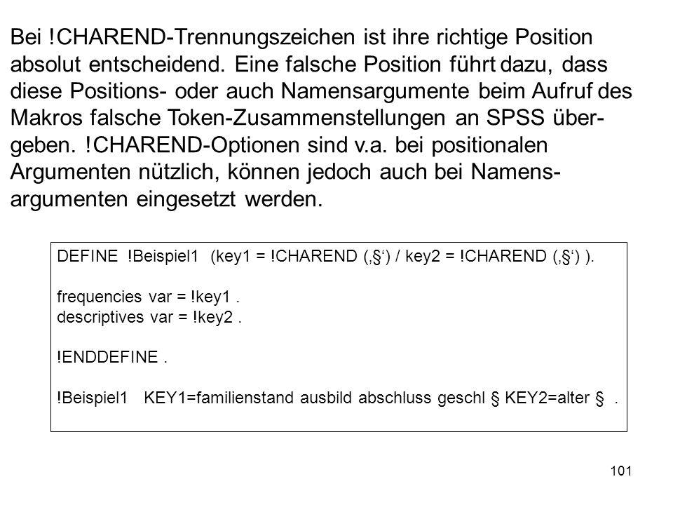 101 Bei !CHAREND-Trennungszeichen ist ihre richtige Position absolut entscheidend. Eine falsche Position führt dazu, dass diese Positions- oder auch N