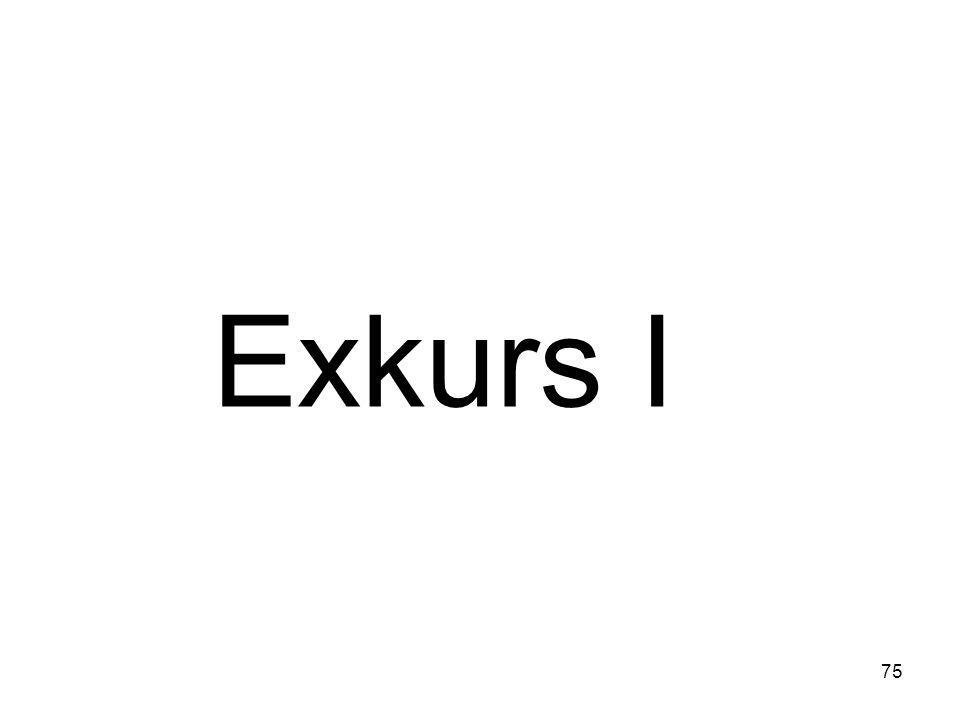 75 Exkurs I