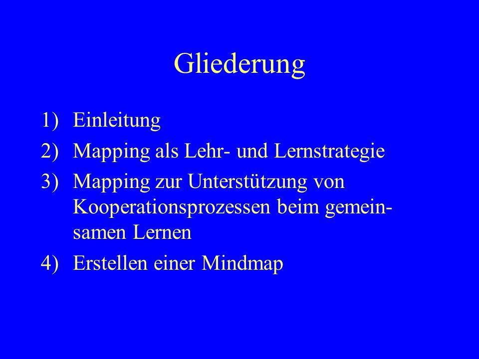 Literatur Jüngst, K.L.(1995). Studien zur didaktischen Nutzung von Concept Maps.