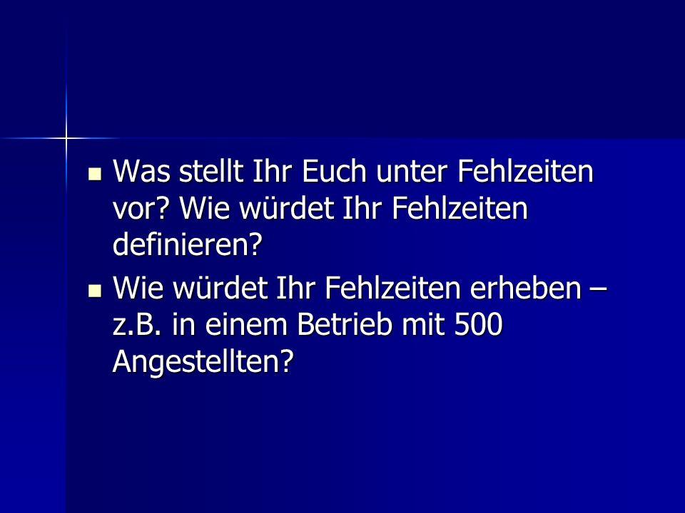 Definition: Fehlzeiten Eissing, G. (1991)