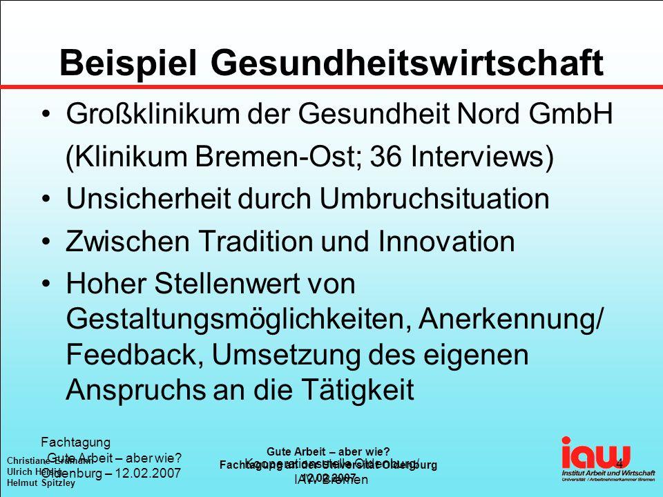 Christiane Erdmann Ulrich Heisig Helmut Spitzley Gute Arbeit – aber wie.