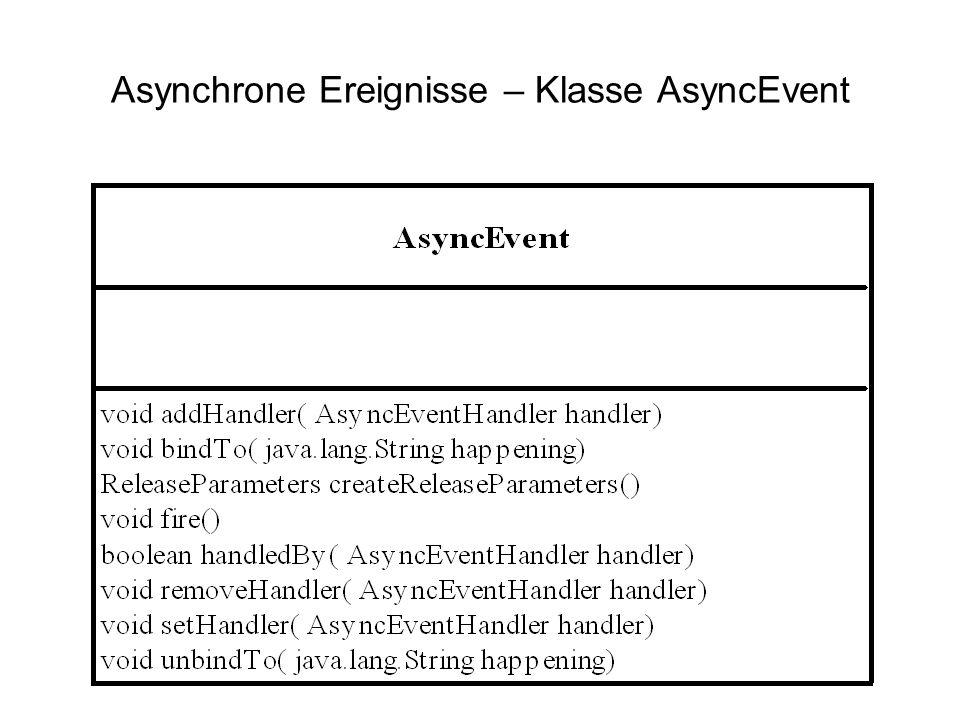 Asynchrone Ereignisse – Klasse AsyncEvent