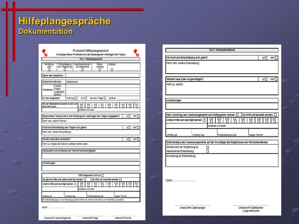 Hilfeplangespräche Dokumentation