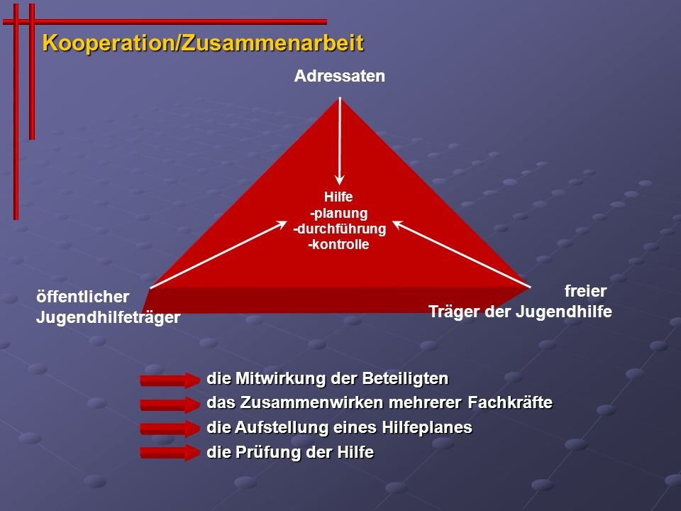 soziales Feld* * Wohnumfeld, Schule, Kindergarten, Nachbarn, Verwandte, andere Hilfen usw.