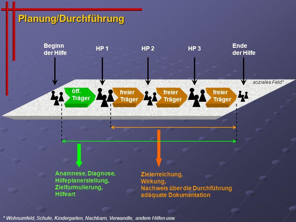 (1) Differenzierung des Hilfebedarfes auf der 3.