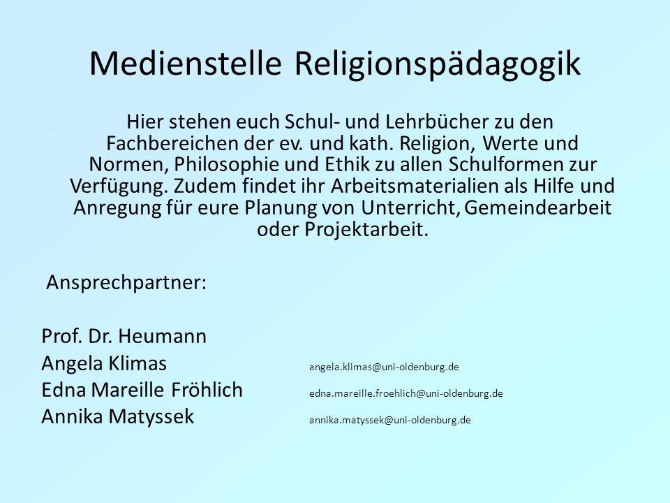 Medienstelle Religionspädagogik Hier stehen euch Schul- und Lehrbücher zu den Fachbereichen der ev.