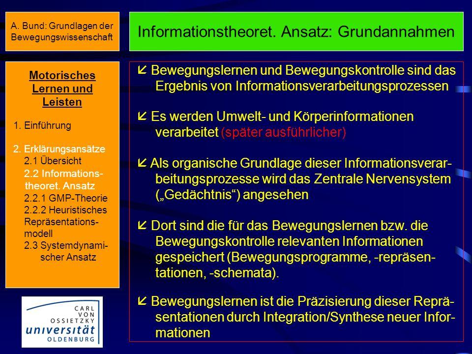 Übersicht Erklärungsansätze III Informations- theoretischer Ansatz Handlungs- theoretischer Ansatz System- dynamischer Ansatz Ansätze, Theorien, Model