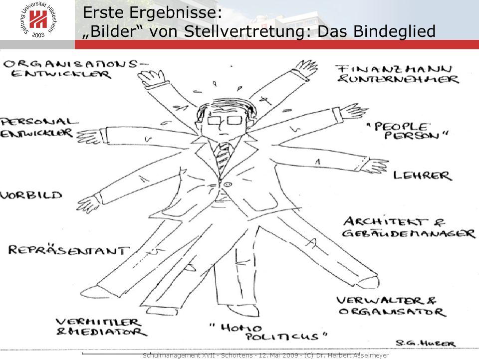 Erste Ergebnisse: Bilder von Stellvertretung: Das Bindeglied Schulmanagement XVII - Schortens - 12. Mai 2009 - (C) Dr. Herbert Asselmeyer Bindeglied P
