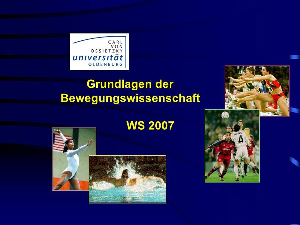 Grundlagen der Bewegungswissenschaft WS 2007