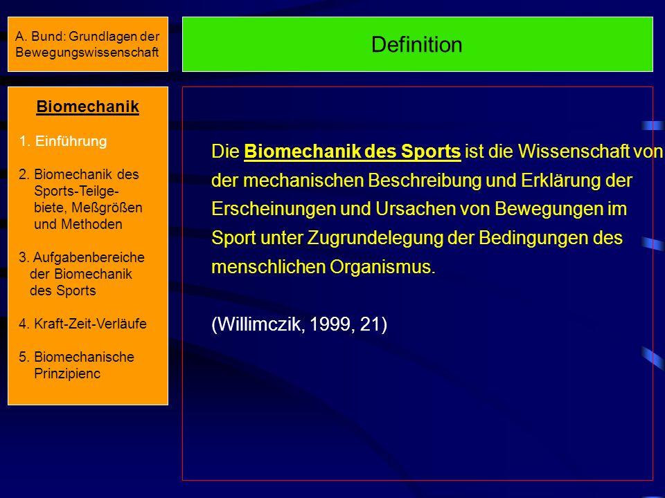 Beispiel Technikanalyse/-ansteuerung Biomechanik 1.