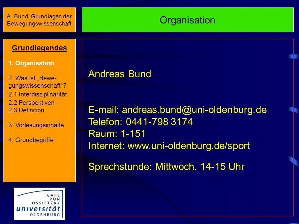 A.Bund: Grundlagen der Bewegungswissenschaft Grundlegendes 1.