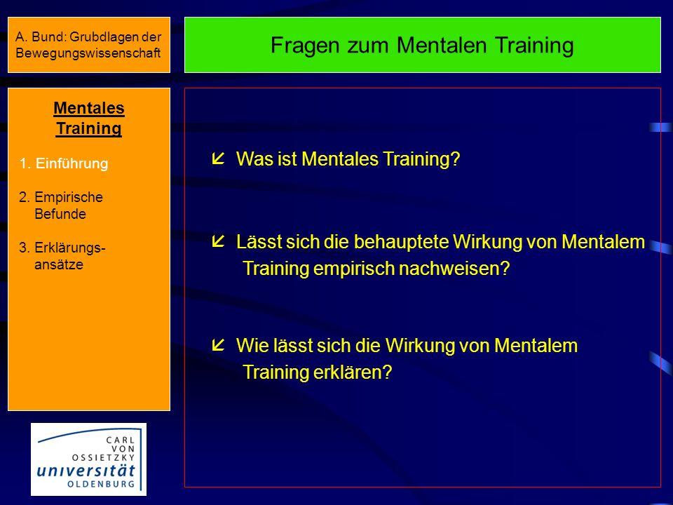 Grundlagen der Bewegungswissenschaft SS 2007