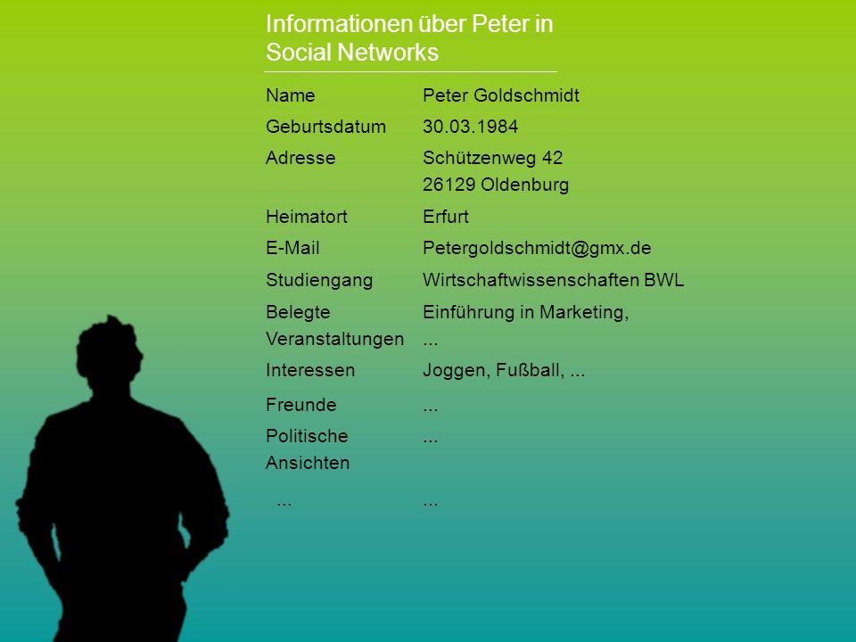 Personalchef einer Unternehmensberatung Peter hat ein Auslandssemester gemacht.......