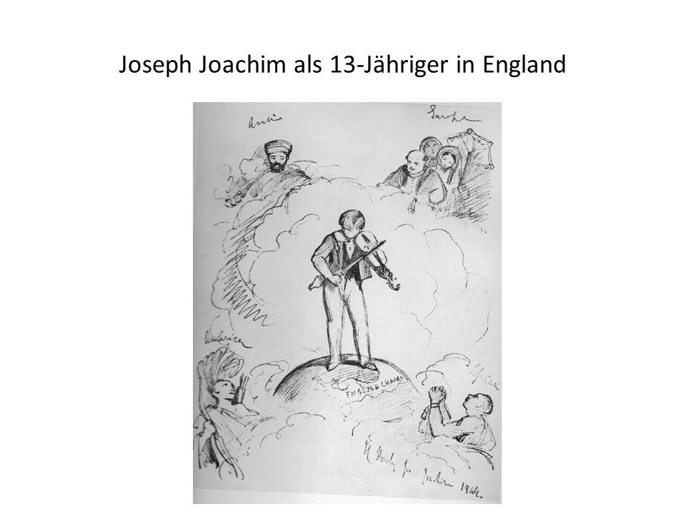 Joseph Joachim als 13-Jähriger in England