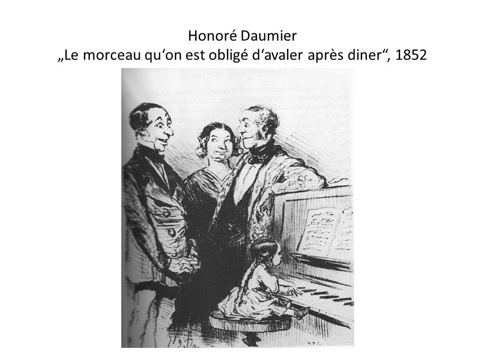Honoré Daumier Le morceau quon est obligé davaler après diner, 1852