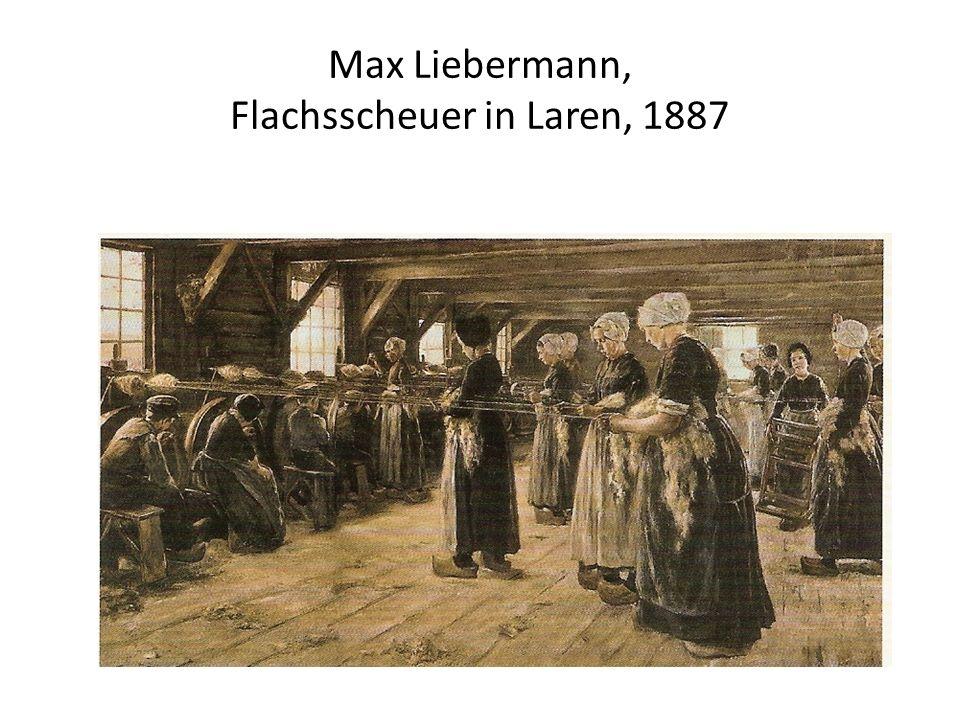 Max Liebermann, Flachsscheuer in Laren, 1887