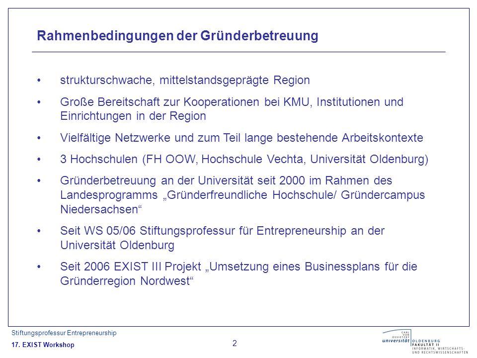 Stiftungsprofessur Entrepreneurship 17.