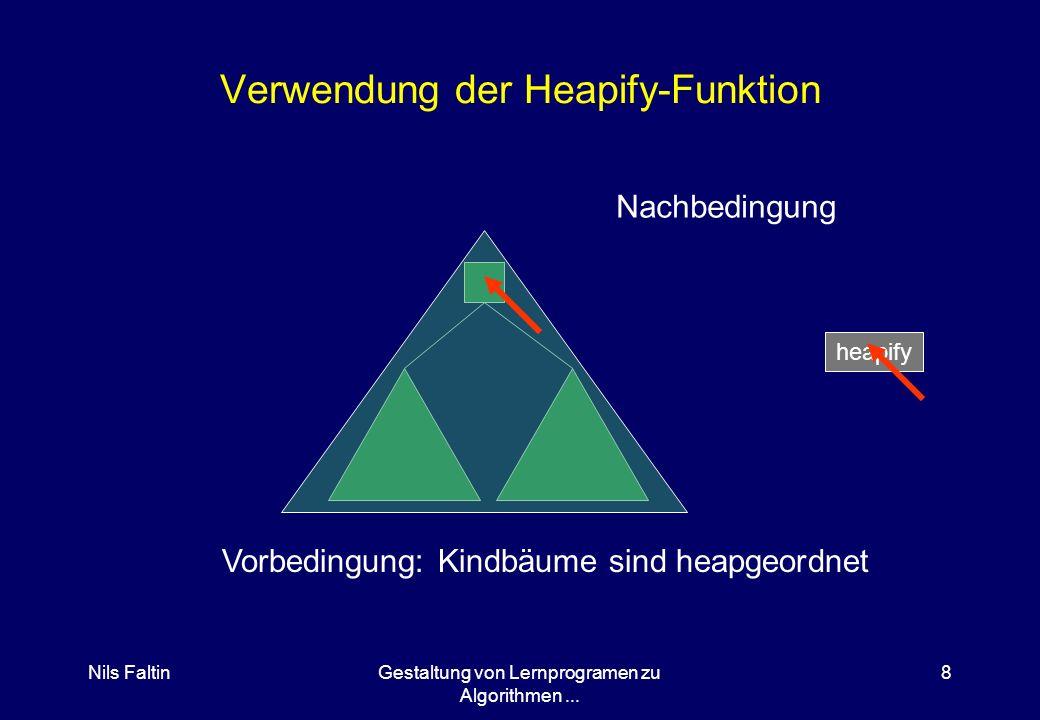 Nils FaltinGestaltung von Lernprogramen zu Algorithmen... 7 Das virtuelle Brettspiel Datenstrukturen sind grafisch dargestellt Funktionen werden durch
