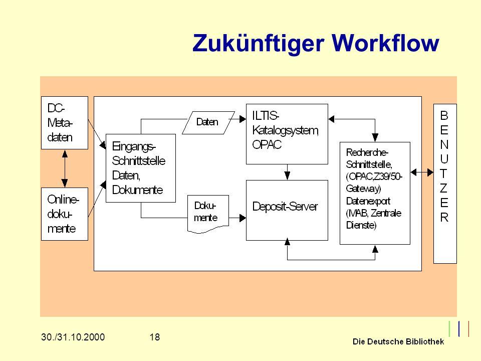 1830./31.10.2000 Zukünftiger Workflow