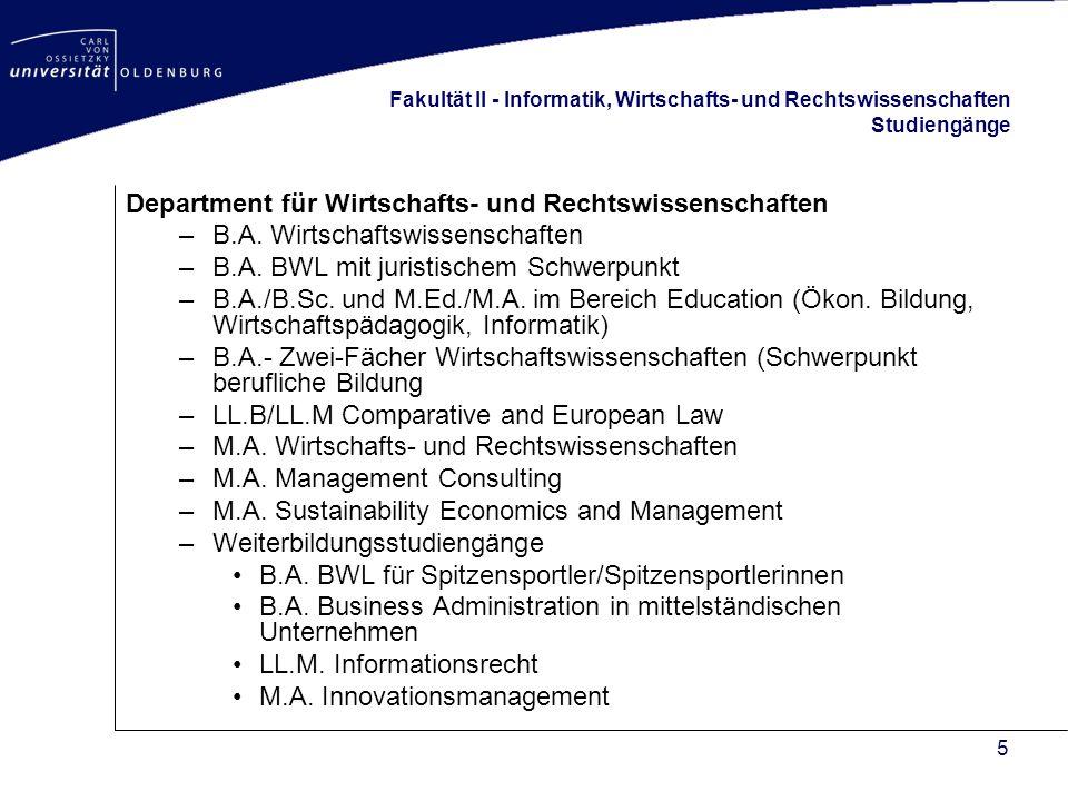6 Fakultät II - Informatik, Wirtschafts- und Rechtswissenschaften Kennzahlen Drittmittel-Ausgaben4 Mio Studierende im 1.