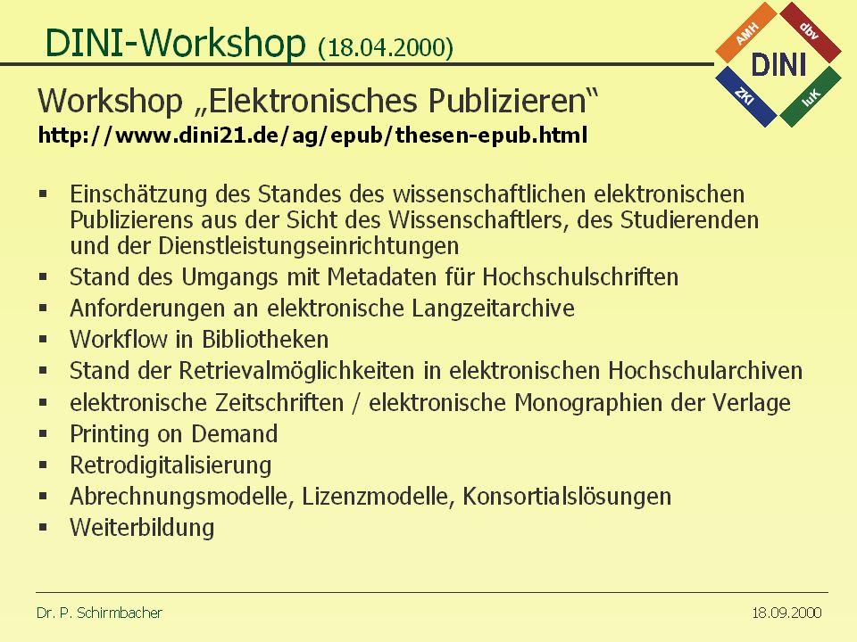 30.10.2000 Dr. P. Schirmbacher